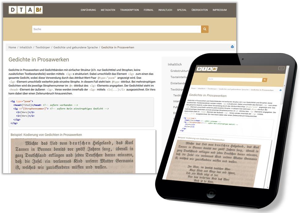 Abbildung DTABf-Website